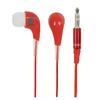 Fejhallgató Fülbe Dugható 3.5 mm Piros