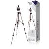Fényképezőgép / Videokamera Háromlábú Pásztázás és Döntés 105 cm Fekete/Ezüst