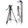 Fényképezőgép / Videokamera Háromlábú Pásztázás és Döntés 161 cm Fekete/Ezüst