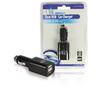 Autós Töltő 2-Kimenet 1.0 A USB Fekete