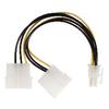 Belső Tápkábel 2x Molex Dugó - PCI Express Alj 0.15 m