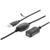 Aktív USB 2.0 Hosszabbító Kábel USB A Dugó - USB A Aljzat 20.0 m Fekete
