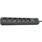 Eco-Line 13.500A extension socket with surge protection 6-way