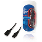 IEC C13-verlengsnoer IEC-320-C14 - IEC-320-C13 2,0 m zwart