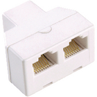 Bandridge BTP6009M Telecom-Adapter RJ11 (4/6) Male - 2x RJ11 (4/6) Female Wit image