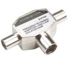 Bandridge BVP425 Coax-Adapter 2x Coaxconnector Male (IEC) - Coax Female (IEC) Zilver image