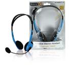 Draagbare stereo headset blauw
