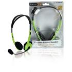 Draagbare stereo headset groen