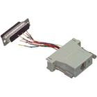 Adapter 25p mannelijk - 8p modular socket