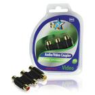 Audio / videokoppelstuk 3x RCA vrouwelijk - 3x RCA vrouwelijk AV ( RWG )