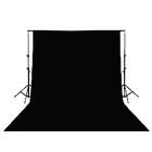 Achtergronddoek zwart 3 x 2 m