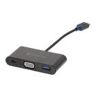 König KNC64760E02 USB 3.1 Adapter USB-C Male - USB A Female / USB-C Female / VGA Female 15-Pins Antraciet image