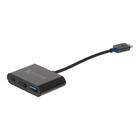 König KNC64765E02 USB 3.1 Adapter USB-C Male - USB A Female / USB-C Female / HDMI Female Antraciet image