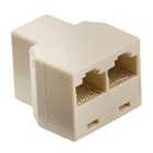 Valueline VLTB90991I Telecom-Adapter RJ45 (4/8) Female - 2x RJ45 (4/8) Female Ivoor image