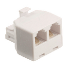 Valueline VLTB90995W Telecom-Adapter RJ11 (4/6) Male - 2x RJ11 (4/6) Female Wit image
