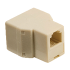 Valueline VLTP90990I Telecom-Adapter RJ11 (4/6) Male - 2x RJ11 (4/6) Female Ivoor image