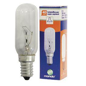 Cooker Hood Lamp E14 40 W Original Part Number 484000000985, 9029791929, 481281728318