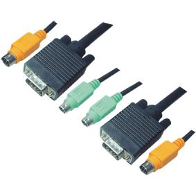 KVM Cable VGA Male / 2x PS/2 Plug / 2x 3.5 mm Male - VGA Male / 2x PS/2 Plug / 2x 3.5 mm Male 3.0 m