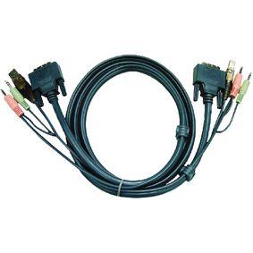 KVM Cable DVI-d Dual Link For Aten Cs1782-84/1642-44 1.8m - 2l7d02ud