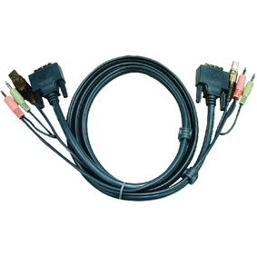 DVI KVM Cable With USB Audio 1.8m