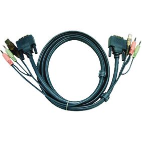 KVM Cable DVI-d Dual Link For Aten Cs1782-84/1642-44 5m - 2l7d05ud