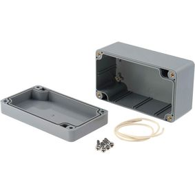 Plastic enclosure 65 x 115 x 55 mm Dark Grey ABS IP65
