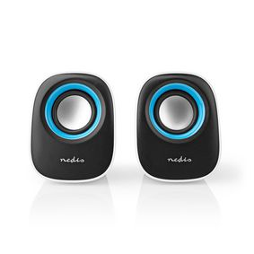 PC speaker | 2.0 | 12 W | 3.5mm Jack | White / Blue