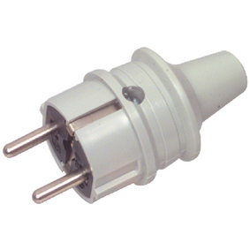 AC Power Connector Schuko / Type F (CEE 7/7) 16 A Grey