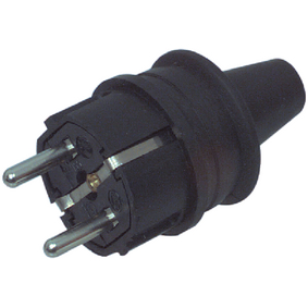 AC Power Connector Schuko / Type F (CEE 7/7) 16 A Black