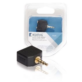 3,5 mm audio splitter 3,5 mm male - 2x 3,5 mm female 1 stuk grijs