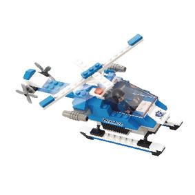 Building Blocks Police Serie Police Helicopter