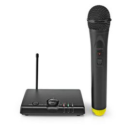 Wireless Microphone | 1 Channel | 1 Microphone | 5 hours operating time | Receiver | Black
