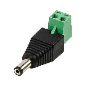 DC-stekker met connector, male