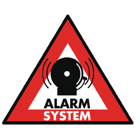 Sticker alarmsysteem, 123 x 148 mm