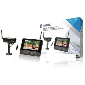 2.4 GHz digitale draadloze observatieset met 1 camera en recorder met 7 inch LCD monitor