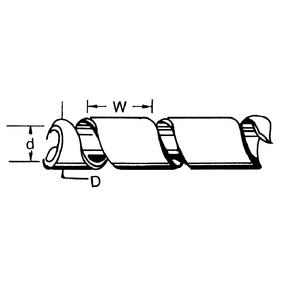 Spiraalband 9-65 mm zwart