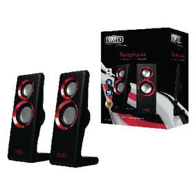 Sweex 2.0 speakerset Purephonic 20 W rood
