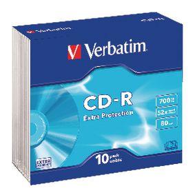 CD-R Extra Protection 700 MB Slim Case 10 stuks