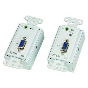 VGA/Audio Cat 5 Extender Wall Plate (1280 x 1024@150m)