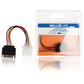 Internal Power Cable SATA 15-Pin Male - Molex Female 0.15 m