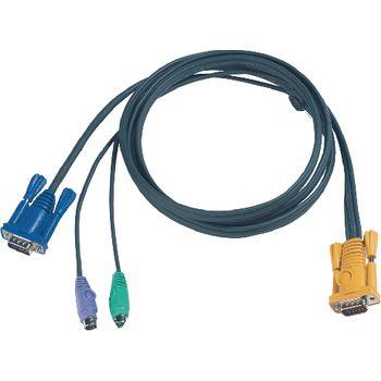 Kvm-erikoisyhdistelmäkaapelit, vga/ps/2 3 m | 2L-5203P | Aten