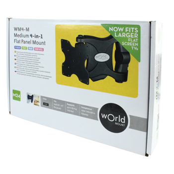 Omnimount WM4-M INT TV Mount Black