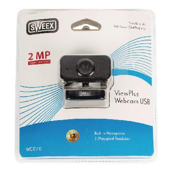 Webcam USB 2 MPixel 720p Plastic Black   Sweex