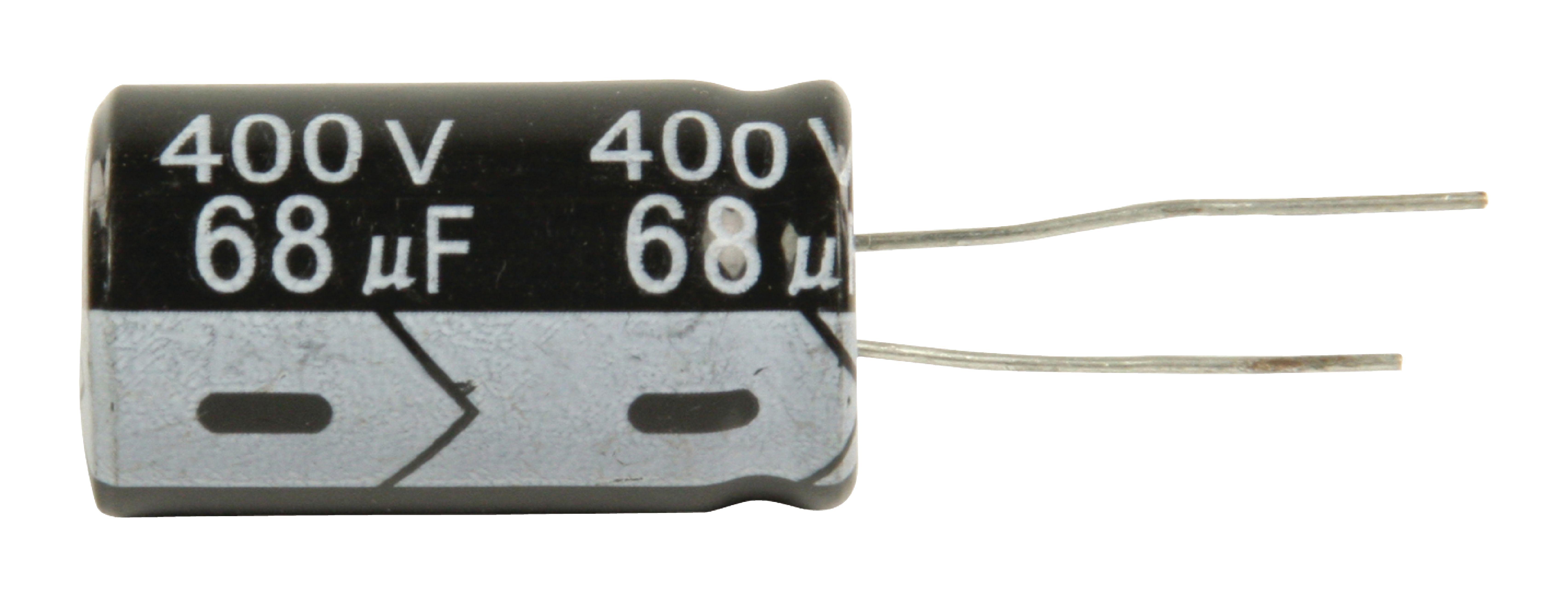 Elektrolytkondensator 68 uF 400 VDC VE:5