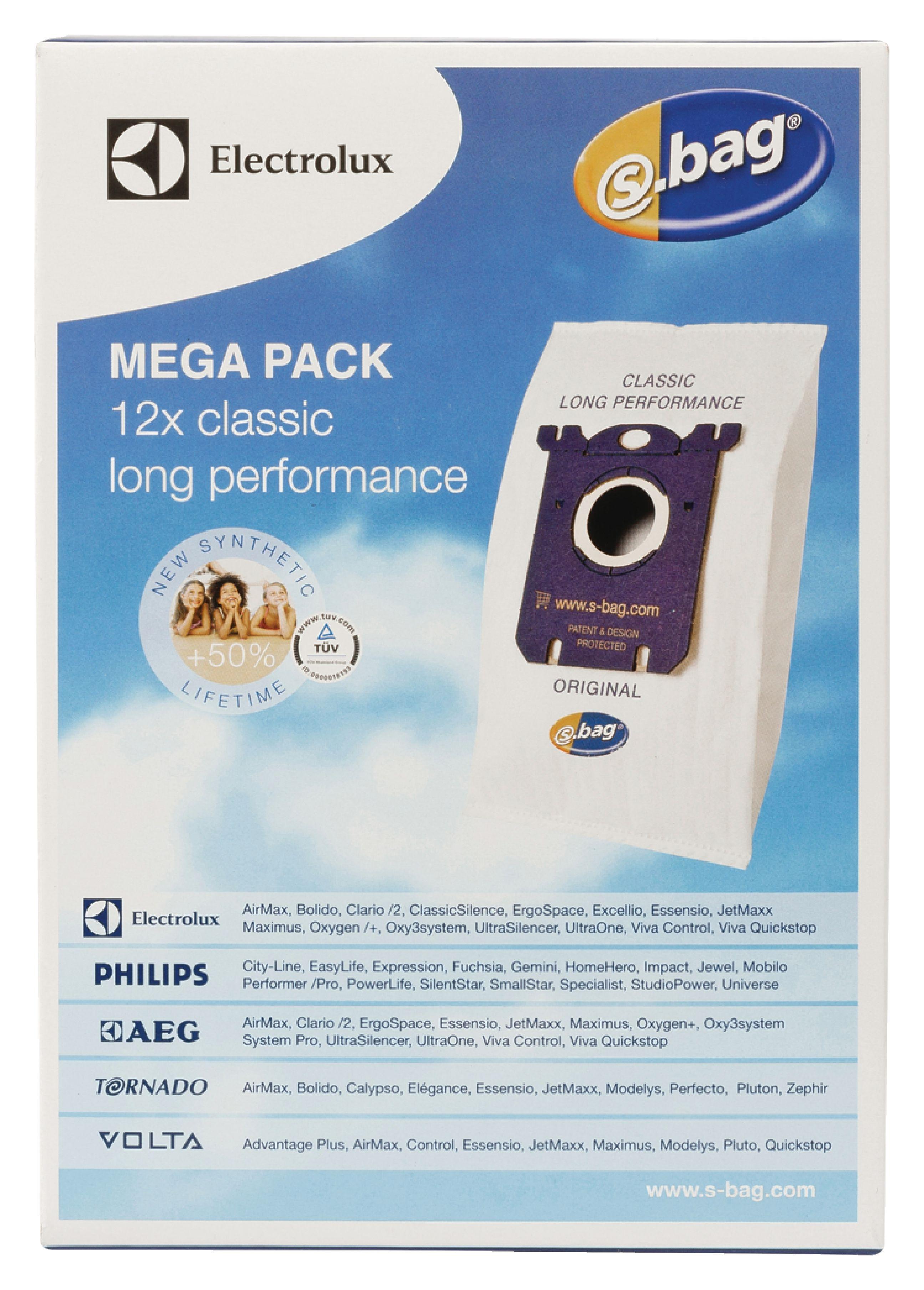 0b552a83326 ... 9002560994 : Electrolux - Vacuum Cleaner Bag E201M. Type: S-bag classic  long performance Mega pack E 201M