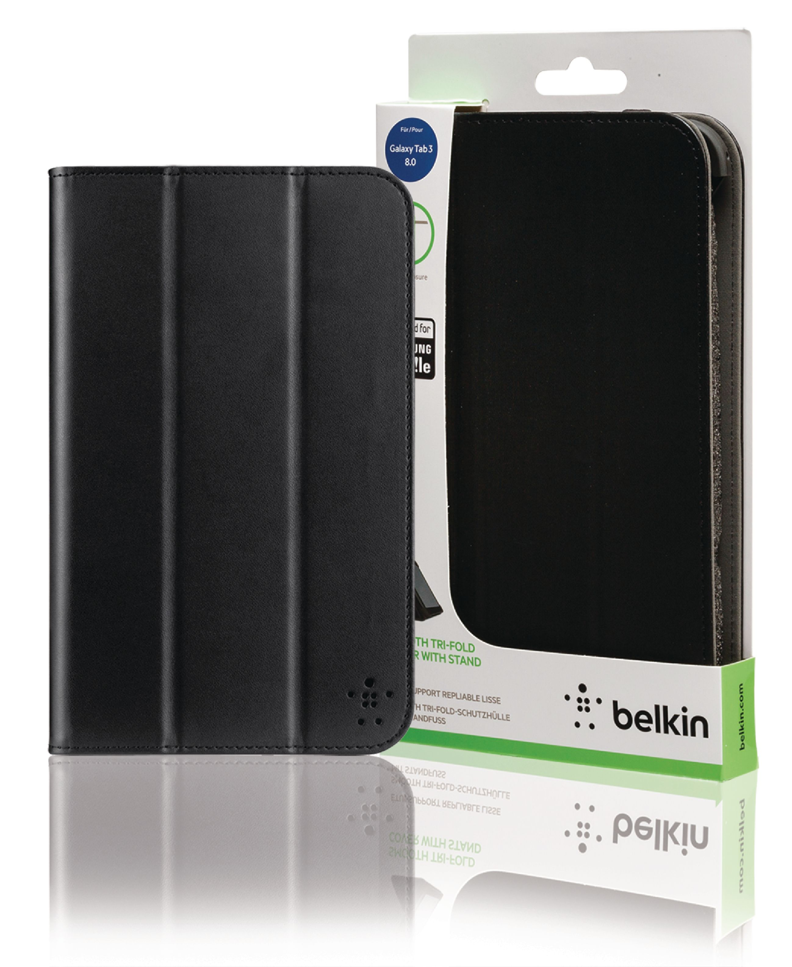 accbel00920b belkin etui de protection pour tablette portfolio samsung galaxy tab 3 8 noir. Black Bedroom Furniture Sets. Home Design Ideas