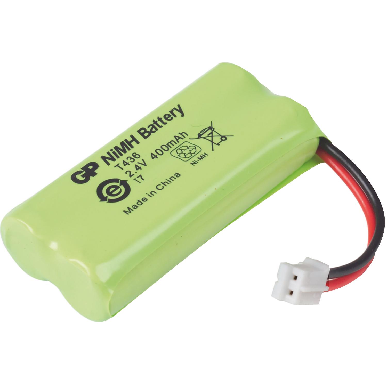 accu t436 gp batterie rechargeable nimh pack 2 4 v 400 mah 1 blister electronic. Black Bedroom Furniture Sets. Home Design Ideas