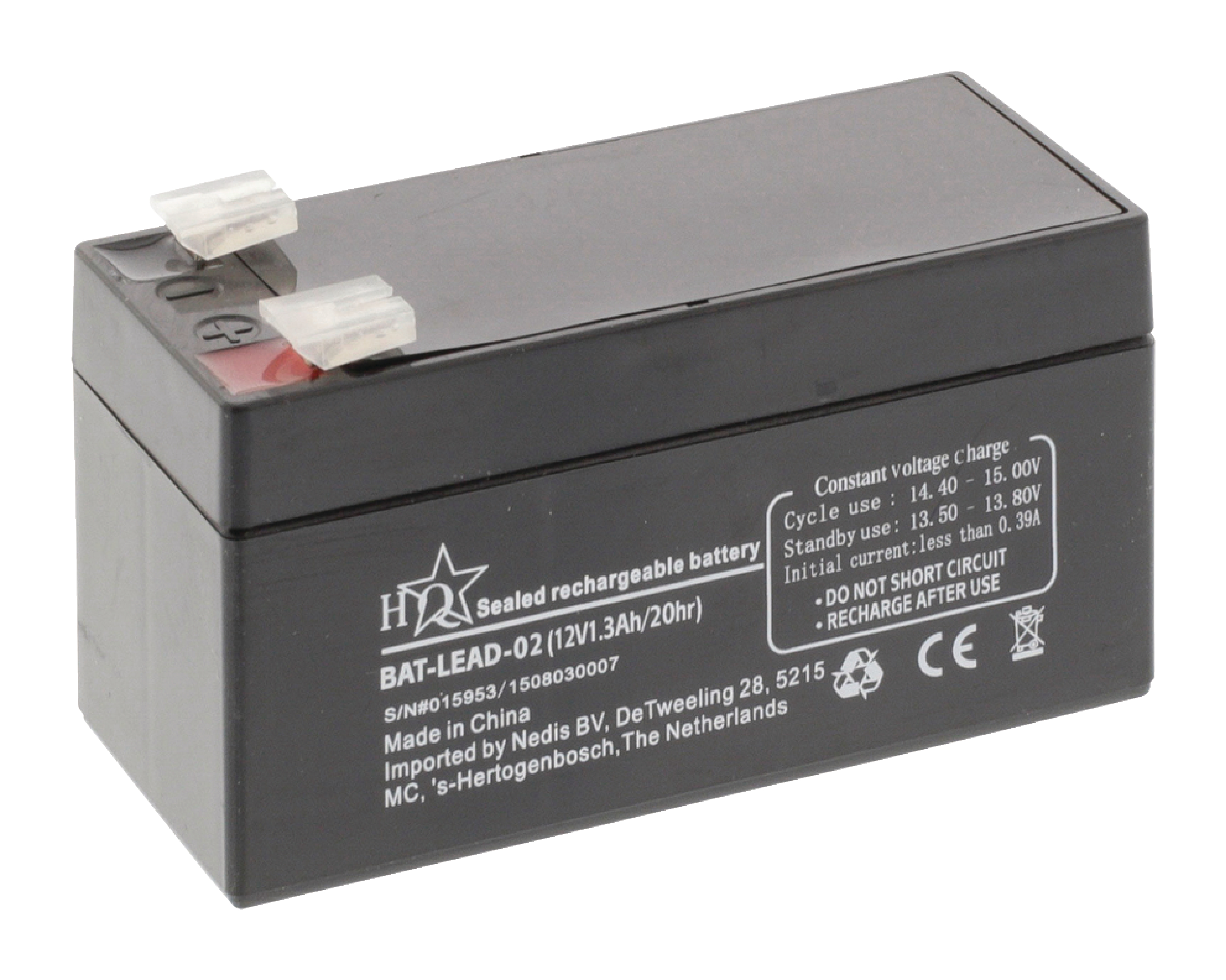 bat lead 02 hq rechargeable lead acid battery 12 v. Black Bedroom Furniture Sets. Home Design Ideas