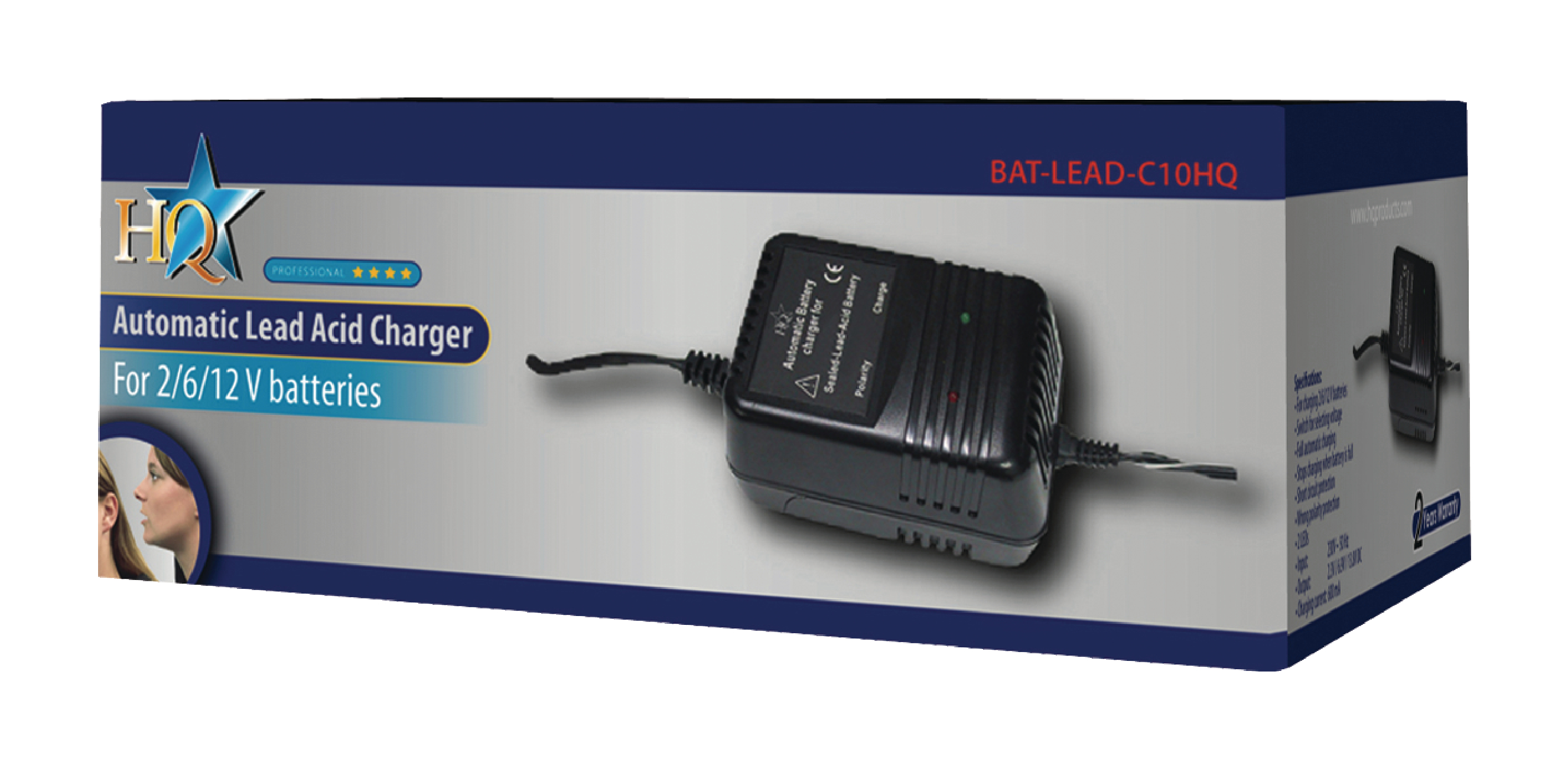 Bat Lead C10hq Hq Acid Battery Charger 2 Vdc 6 12 12v Automatic Circuit Electronic