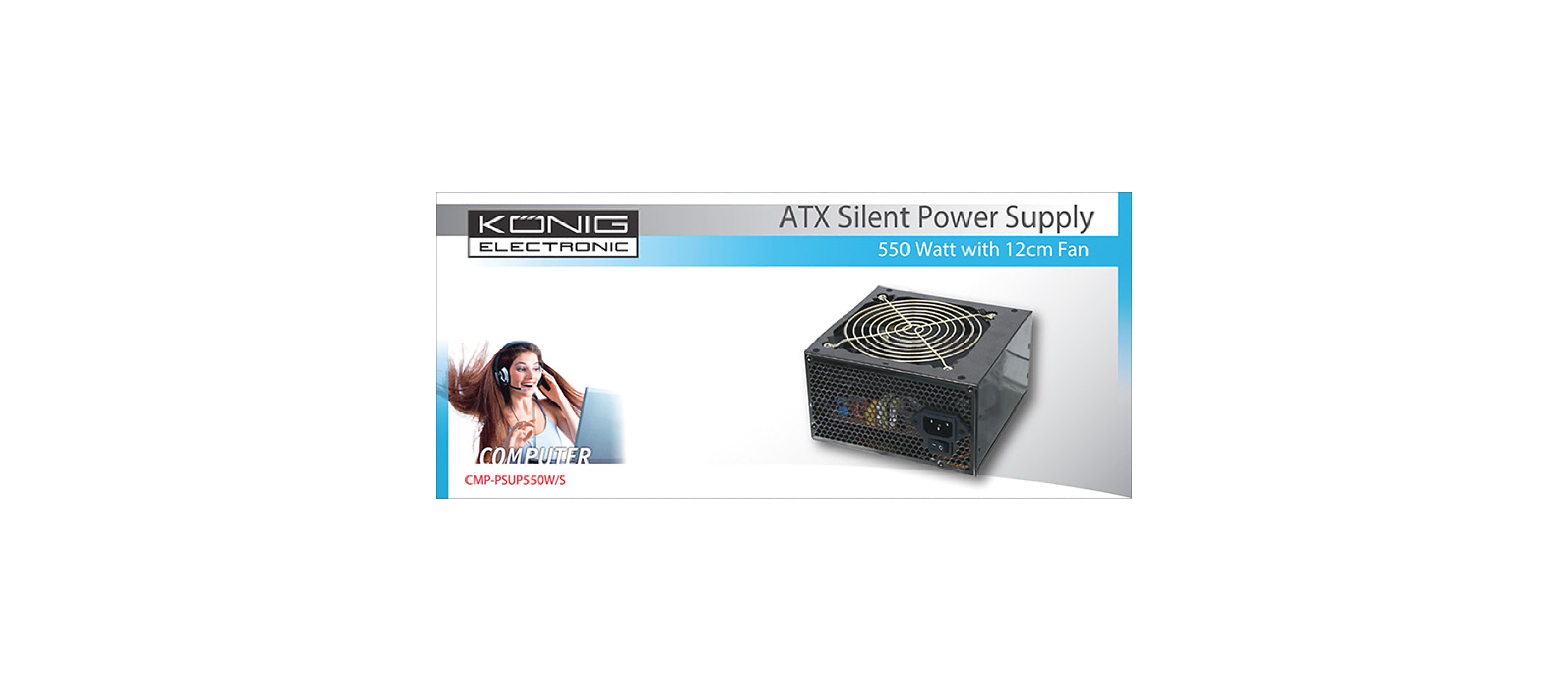 CMP-PSUP550W/S - König - PC Power Supply 550 W Stille Ventilator 12 ...